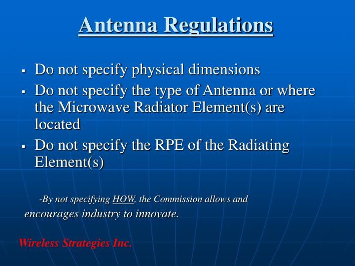 Antenna Regulations