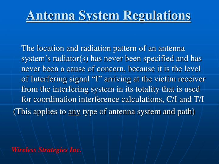 Antenna System Regulations