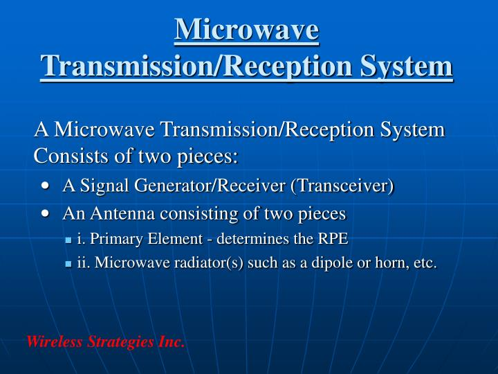 Microwave Transmission/Reception System