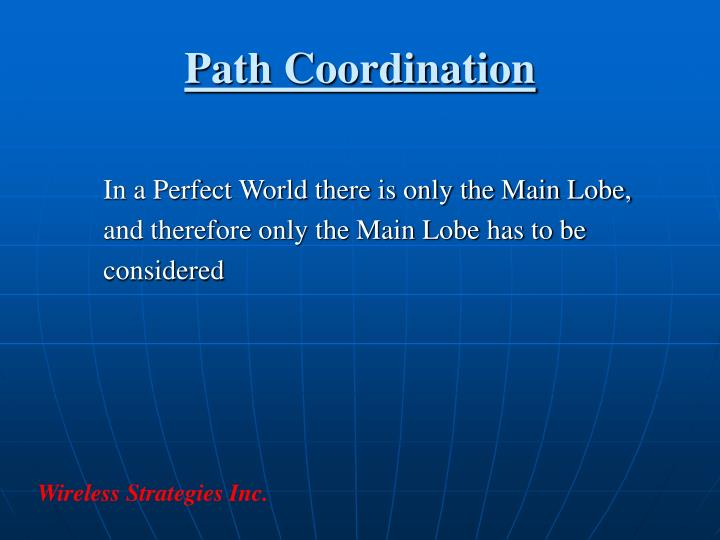 Path Coordination