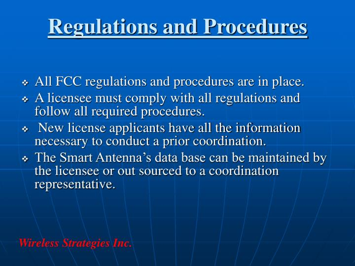 Regulations and Procedures
