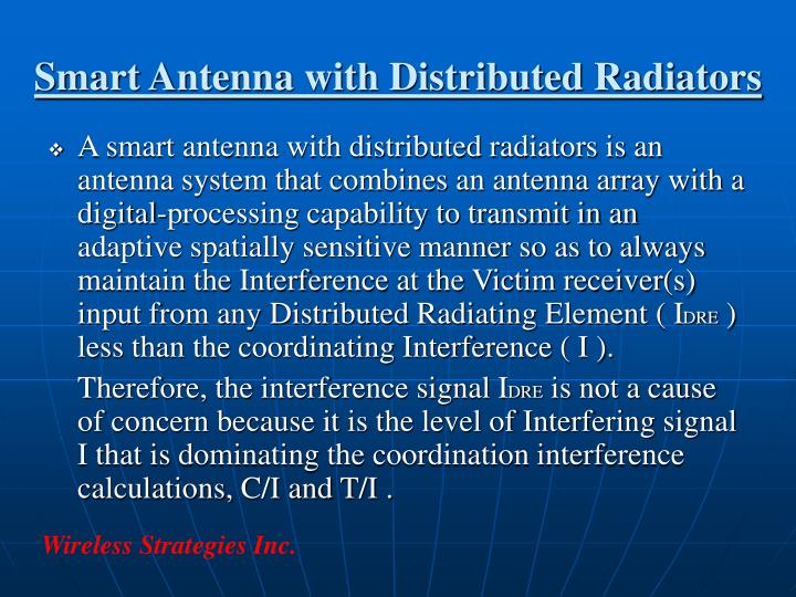 Smart Antenna with Distributed Radiators