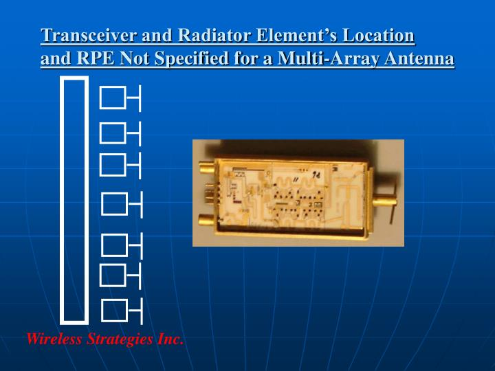 Transceiver and Radiator Element's Location