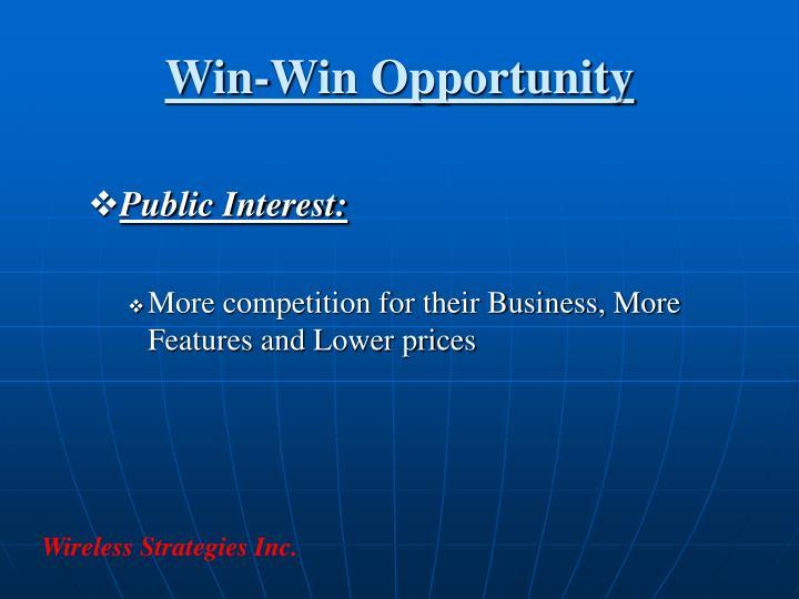 Win-Win Opportunity