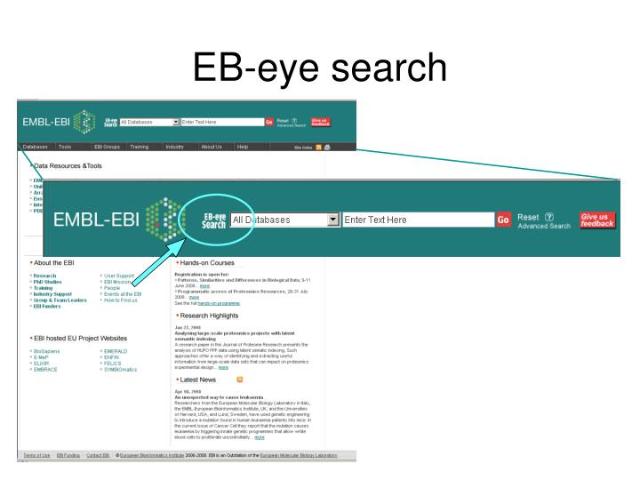 EB-eye search