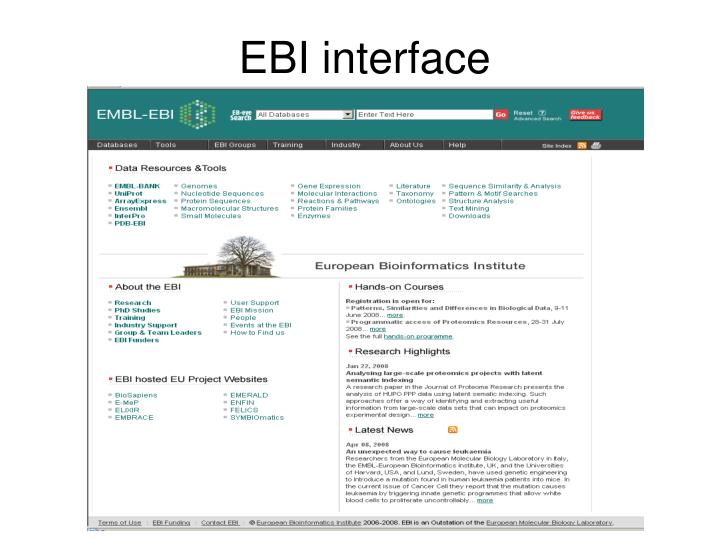 EBI interface