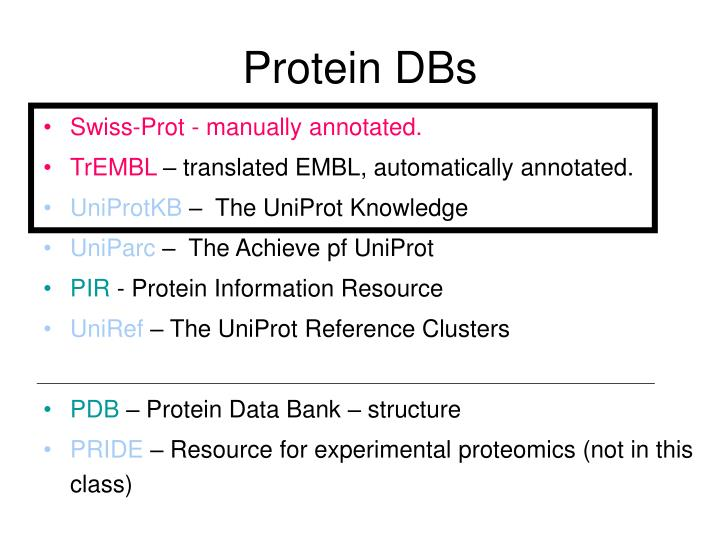 Protein DBs