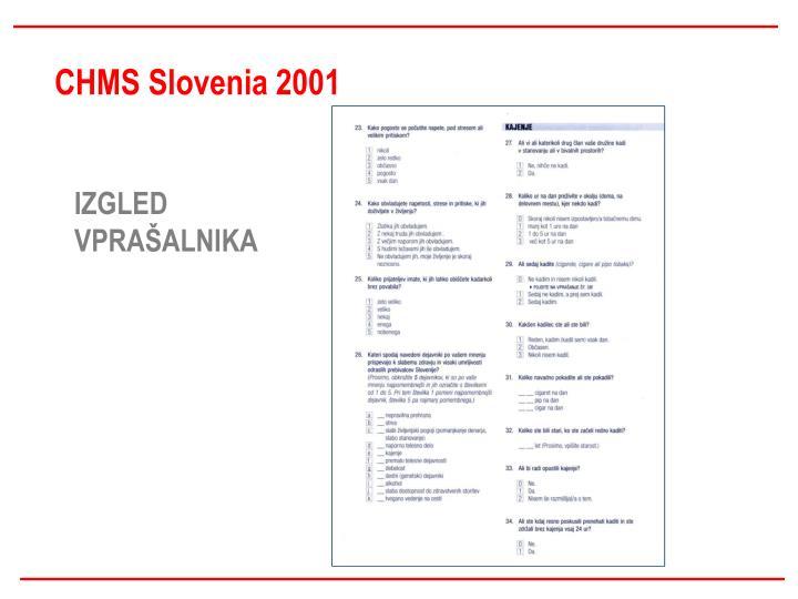 CHMS Slovenia 2001