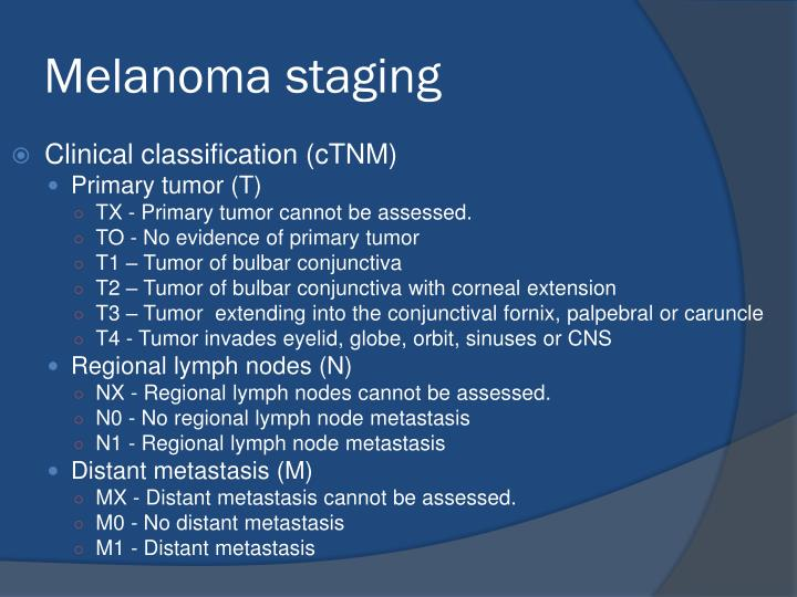 Melanoma staging