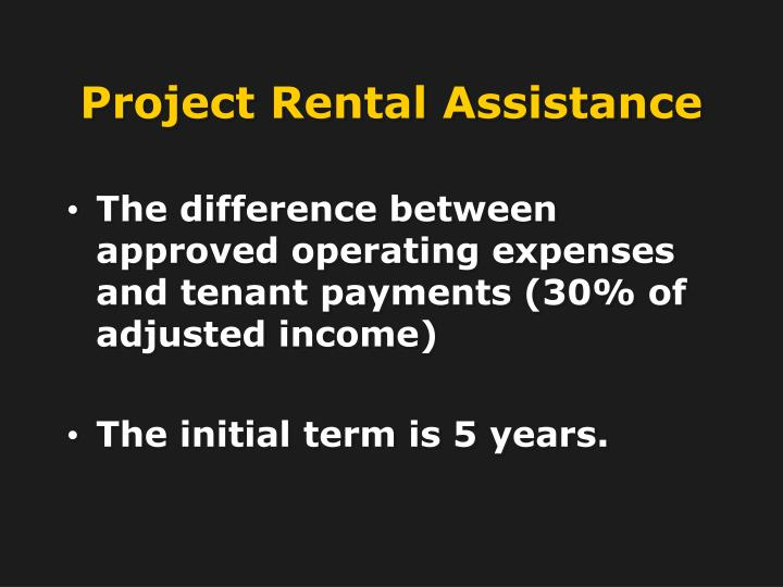 Project Rental Assistance