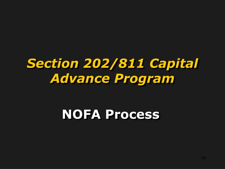 Section 202/811 Capital Advance Program