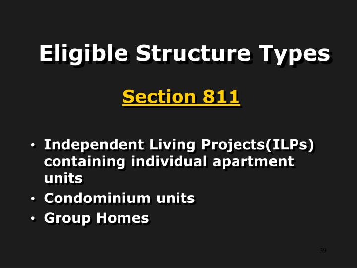 Eligible Structure Types