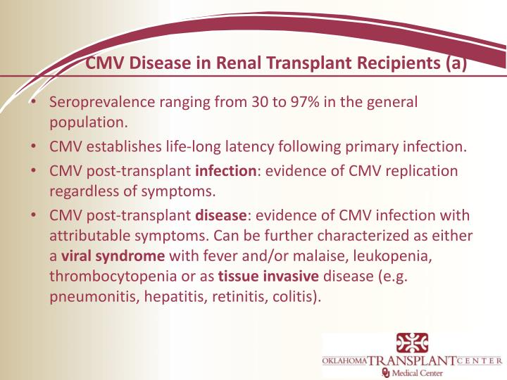 CMV Disease in Renal Transplant Recipients (a)