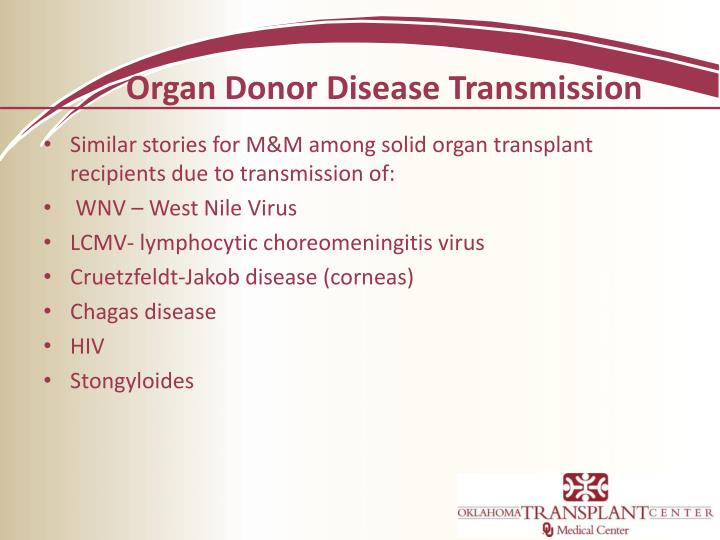 Organ Donor Disease Transmission
