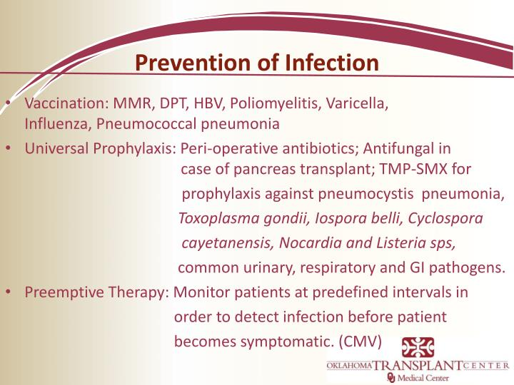Prevention of Infection