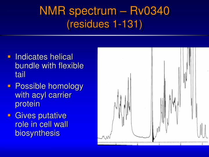 NMR spectrum – Rv0340