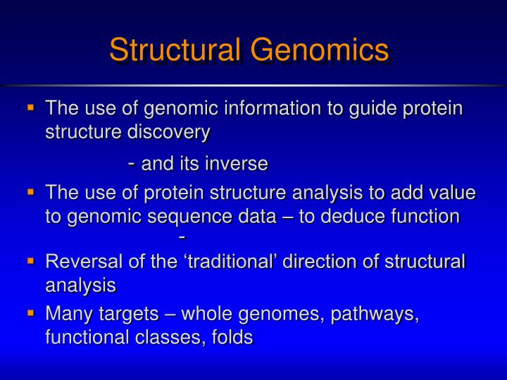 Structural Genomics