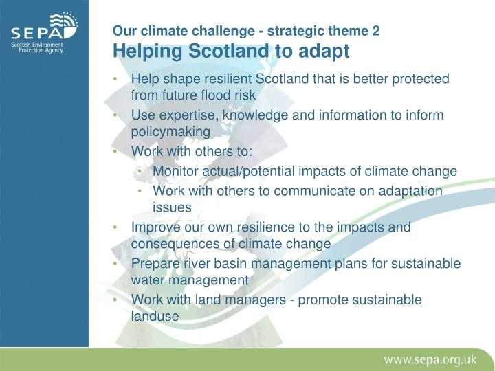 Our climate challenge - strategic theme 2