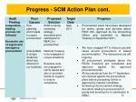 progress scm action plan cont2