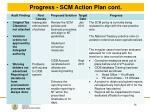 progress scm action plan cont4