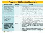 progress scm action plan cont5