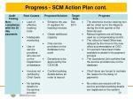progress scm action plan cont8