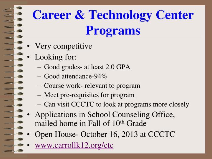 Career & Technology Center Programs