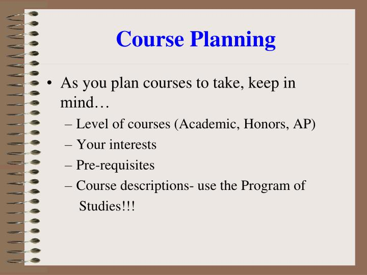 Course Planning