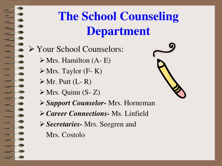 The School Counseling Department