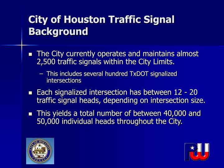 City of houston traffic signal background