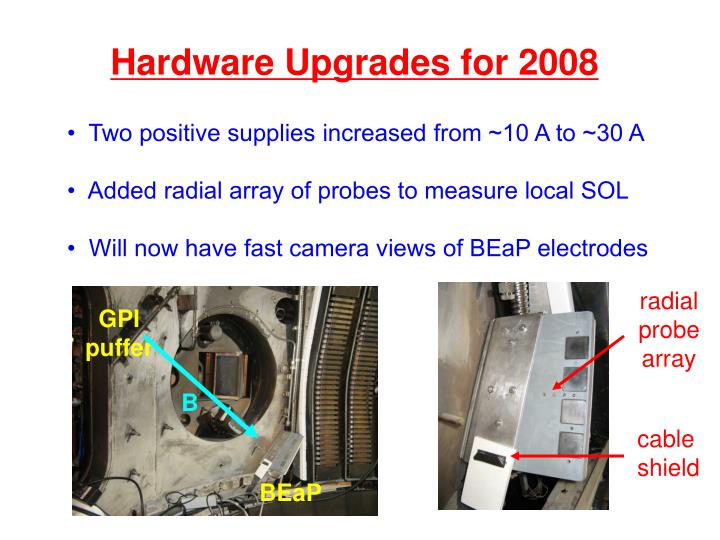 Hardware Upgrades for 2008