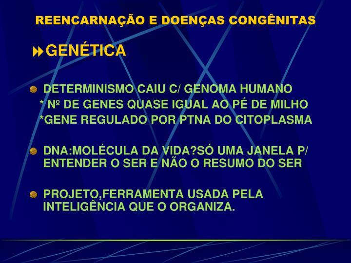 REENCARNAÇÃO E DOENÇAS CONGÊNITAS