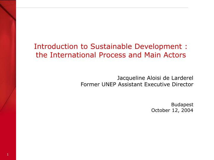 Introduction to Sustainable Development :