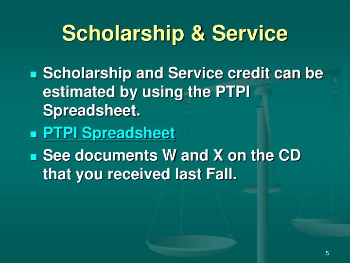 Scholarship & Service
