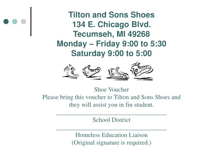Tilton and Sons Shoes