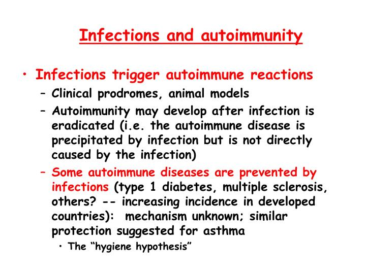 Infections and autoimmunity