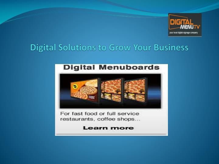 Digital Solutions to Grow Your Business