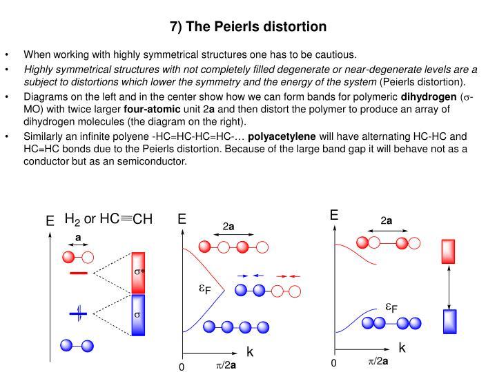7) The Peierls distortion
