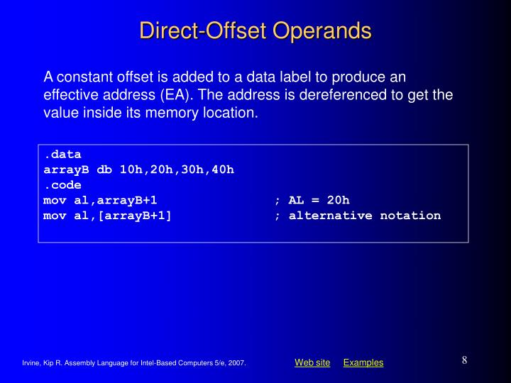 Direct-Offset Operands