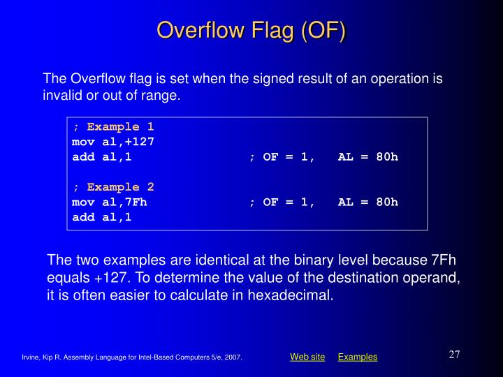Overflow Flag (OF)