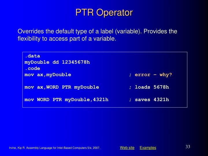 PTR Operator