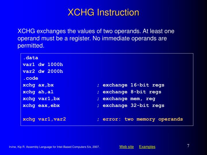 XCHG Instruction