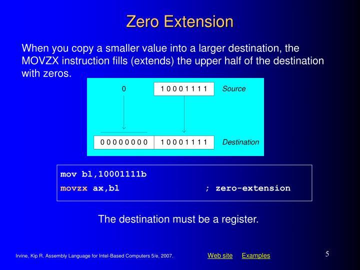 Zero Extension
