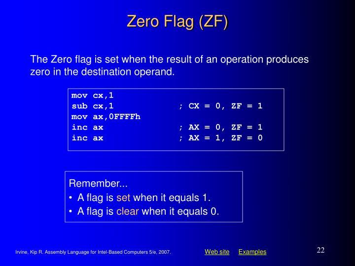 Zero Flag (ZF)
