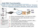 add pbx functionality