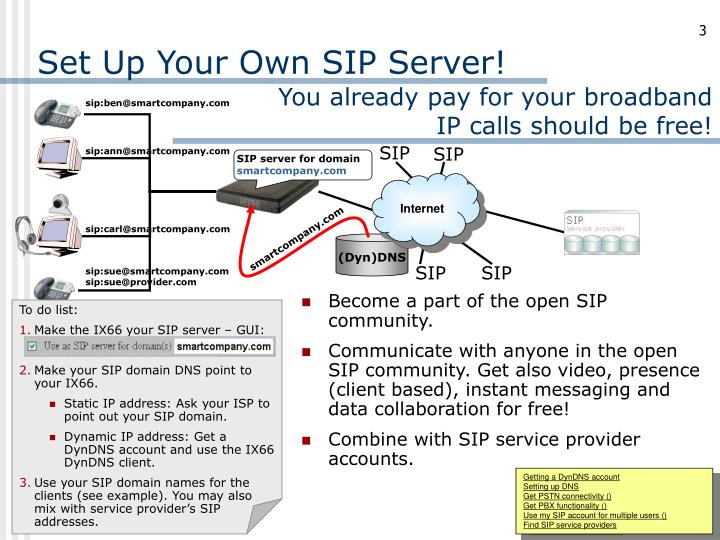 Set up your own sip server