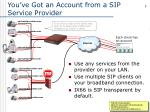 you ve got an account from a sip service provider