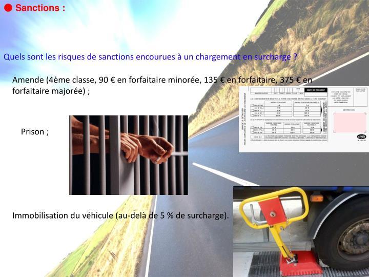 ● Sanctions :