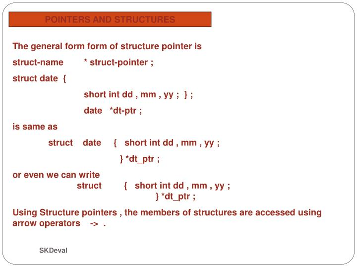POINTERS AND STRUCTURES