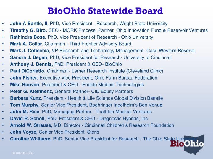 BioOhio Statewide Board